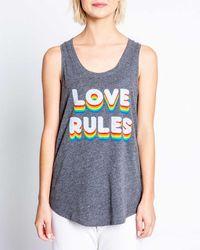 Pj Salvage Love Rules Sleep Tank Top - Blue