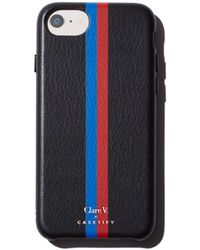 Clare V. - X Casetify Striped Leather Iphone 6/7/8 Case - Lyst