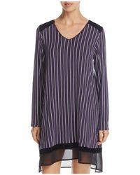 DKNY | Striped Long Sleeve Sleepshirt | Lyst