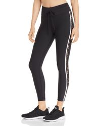 Aqua - Athletic Track Stripe Leggings - Lyst