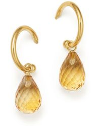 Bloomingdale's - Citrine Briolette Hoop Drop Earrings In 14k Yellow Gold - Lyst