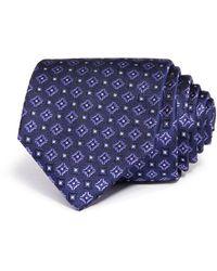 Bloomingdale's Medallion Wool Classic Tie - Purple