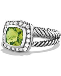 David Yurman | Petite Albion Ring With Peridot & Diamonds | Lyst