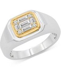 Bloomingdale's Mosiac Diamond Ring In 14k White & Yellow Gold - Metallic