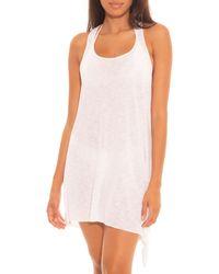 Becca Breezy Basics Twist Back Dress Swim Cover - Up - White