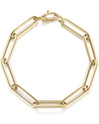 Bloomingdale's - Thin Link Bracelet In 14k Yellow Gold - Lyst