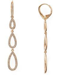 Nadri - Pavé Triple Loop Teardrop Earrings - Lyst