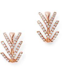 Bloomingdale's Diamond Huggie Earrings In 14k Rose Gold - Multicolour
