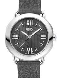 Fendi - Stainless Steel Selleria Watch Head, 36mm - Lyst