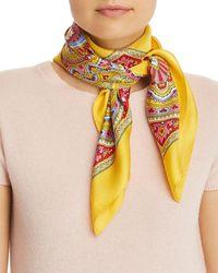Echo Heritage Paisley Silk Scarf - Yellow