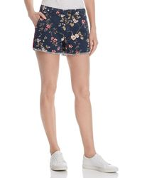 Sundry Frayed Floral Shorts