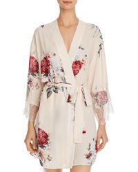 Flora Nikrooz Delphine Printed Kimono Robe - White