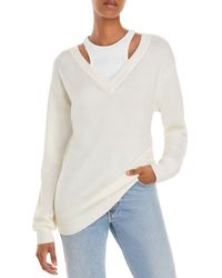 T By Alexander Wang Layered Look Jumper - White