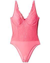 Bardot - Essie Lace & Mesh Bodysuit - Lyst