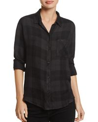 Rails Hunter Plaid Shirt - Black