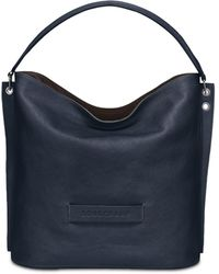 Longchamp 3d Leather Hobo Bag - Blue