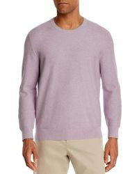 Bloomingdale's Tipped Textured Crewneck Jumper - Purple