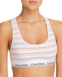 CALVIN KLEIN 205W39NYC - Modern Cotton Pride Bralette - Lyst