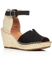 Gentle Souls by Kenneth Cole Gentle Souls Charli Ankle Strap Platform Wedge Sandals - Black