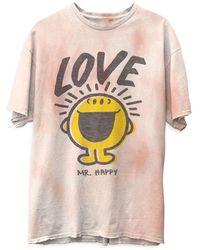 Junk Food Mr. Happy Love Tie Dye Tee - Multicolour
