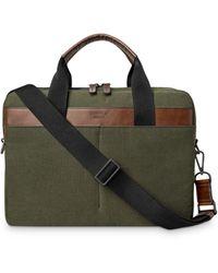 Shinola Mack Leather - Trimmed Briefcase - Multicolour