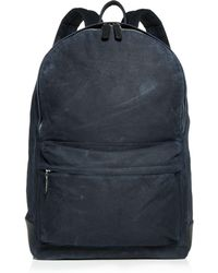 Bloomingdale's Waxed Canvas Backpack - Blue