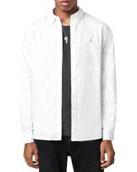 AllSaints - Slim Fit Hawthorne Shirt - Lyst