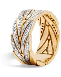 John Hardy - Modern Chain Band Ring With Diamonds - Lyst