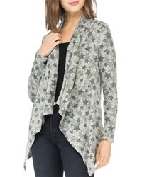 B Collection By Bobeau Amie Draped Front Cardigan - Multicolour