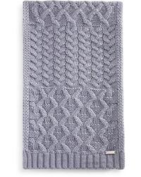 Michael Kors Cable - Knit Muffler - Gray
