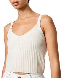 AllSaints Drew Cashmere & Wool Crop Top - White