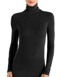 Hanro Wool & Silk Turtleneck Top - Black