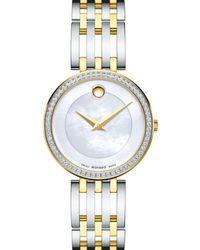 Movado Esperanza Diamond Bezel Two - Tone Watch - Multicolour