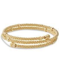Lagos - Caviar 18k Gold Coil Bracelet - Lyst