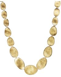 Marco Bicego - 18k Yellow Gold Engraved Lunaria Necklace - Lyst