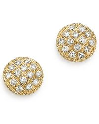 Dana Rebecca | 14k Yellow Gold Diamond Lauren Joy Mini Earrings | Lyst