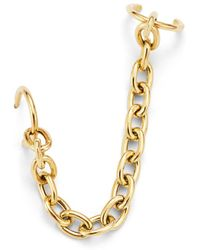 Zoe Chicco 14k Yellow Gold Oval Chain Link Ear Cuff - Metallic