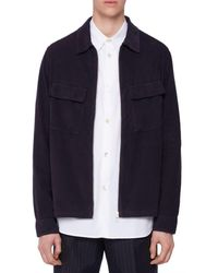 PS by Paul Smith Zip Front Regular Fit Overshirt - Blue