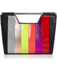Nasty Gal - Open Bar Striped Clutch - Lyst