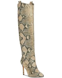 Vince Camuto Women's Kervana Pointed Toe High Heel Dress Boots - Natural