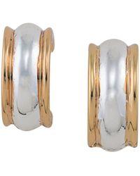 Ralph Lauren - Lauren Two Tone Clip-on Hoop Earrings - Lyst