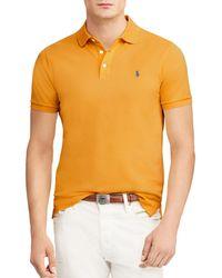 2e6d3a69fc22b Polo Ralph Lauren - Stretch Mesh Custom Slim Fit Polo Shirt - Lyst