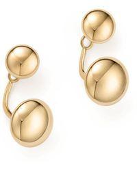 Bloomingdale's - 14k Yellow Gold Ball Ear Jackets - Lyst