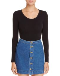 Yummie By Heather Thomson Seamlessly Shaped Long Sleeve Bodysuit - Black