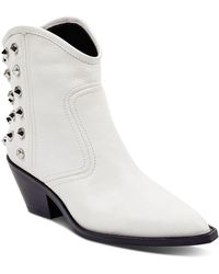 Marc Fisher - Baily Studded Leather Western Booties - Lyst