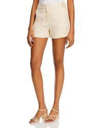 Aqua Tweed Shorts - White