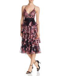 Aidan Mattox - Embellished Tiered Dress - Lyst