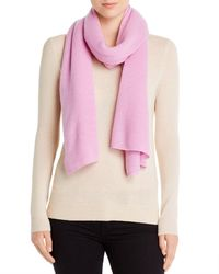 C By Bloomingdale's Oversized Cashmere Travel Wrap - Pink