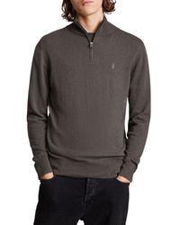 AllSaints Kilburn Zip Funnel Neck Sweater - Multicolor