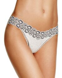 Hanky Panky - Heathered Jersey & Lace Original-rise Thong - Lyst